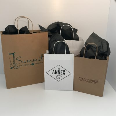 Custom Printed Paper Retail Shopping Bags