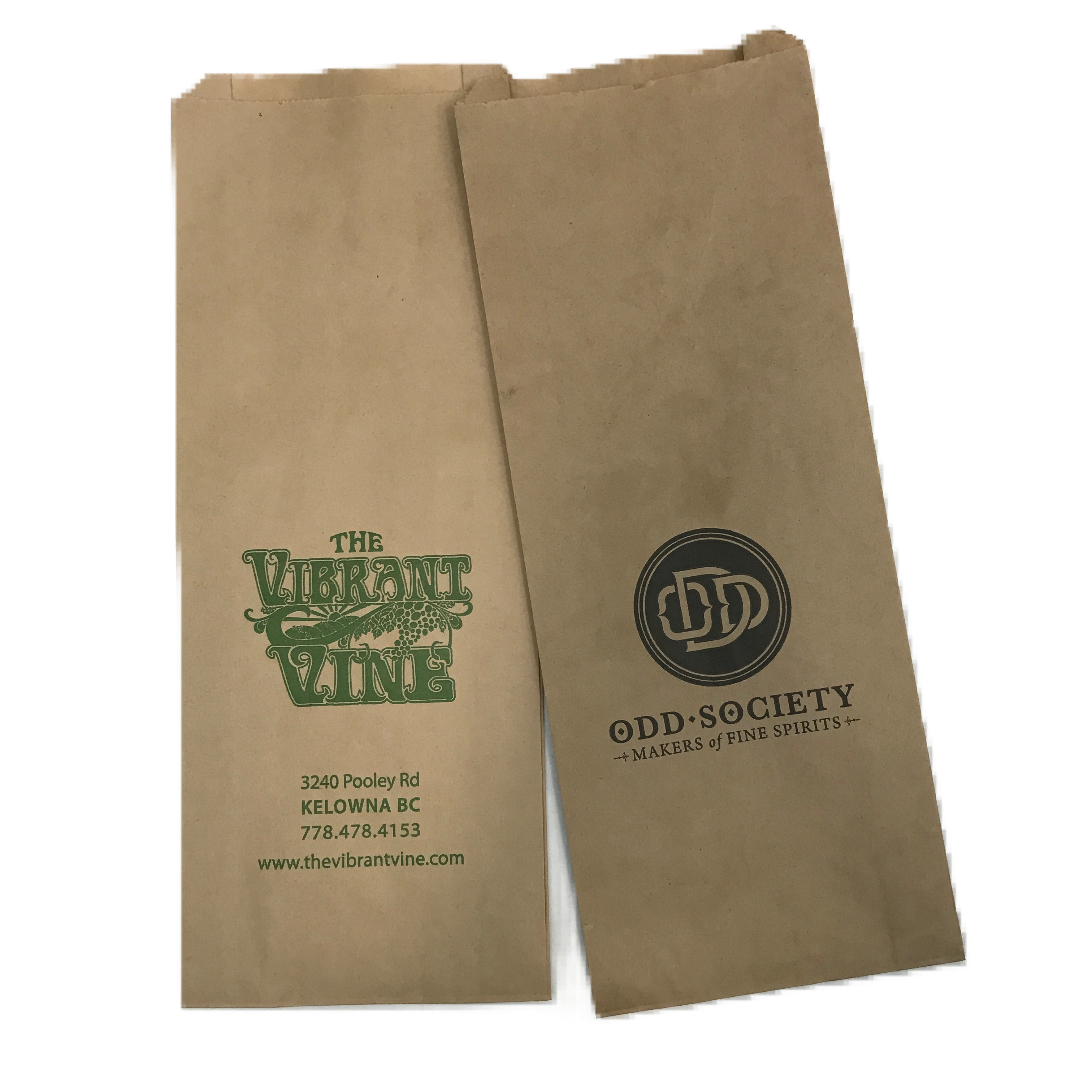 Custom Ink Printed Wine Kraft Paper Bottle Bag