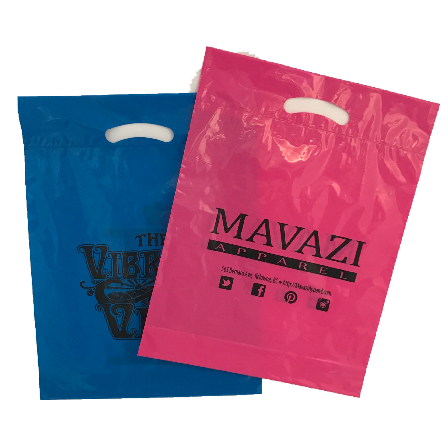 Custom Printed Poly Retail Shopping Bags