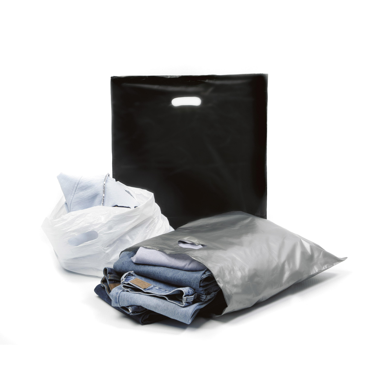 T-Shirts, Jeans and High Density Bags