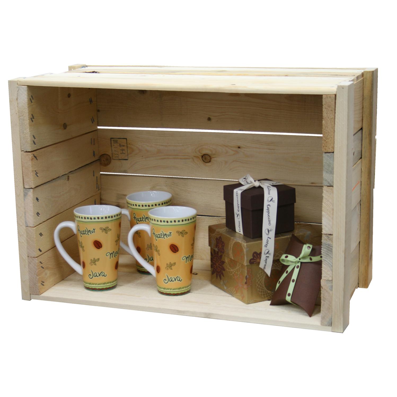 Pine Wood Retail Display Crate