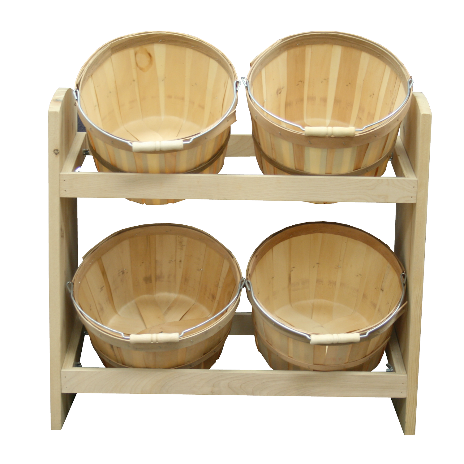 Retail Wood Baskets, Crates & Display Stands