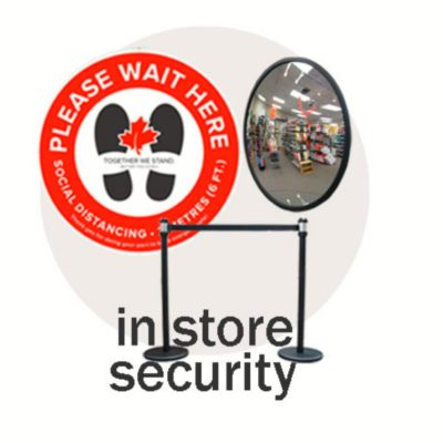 #1 In Store Security & Social Distancing