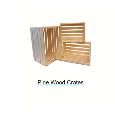 Baskets - Pine Wood Crates & Trays