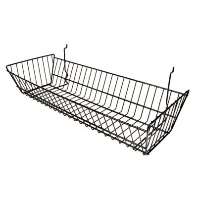 Baskets - Metal All Purpose Baskets for use w/ Gridwall or Slatwall