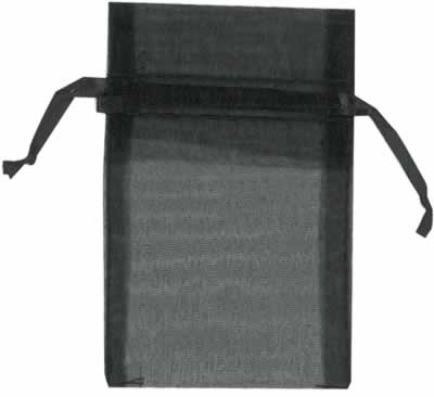 Black organza bags for small items