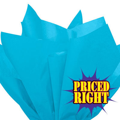 Turquoise priced right reams of tissue paper