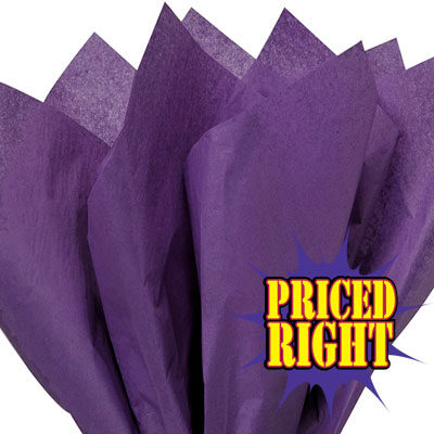 Grape Purple priced right reams of tissue paper