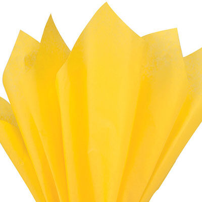 Yellow reams of premium tissue paper