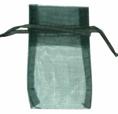 hunter green organza bags for small items
