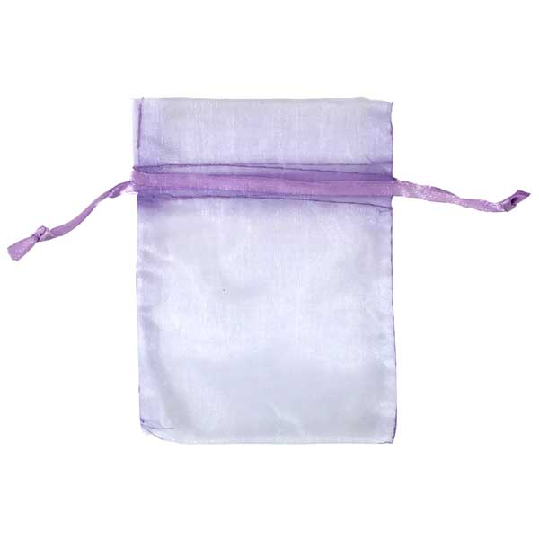 lavender organza bags for small items