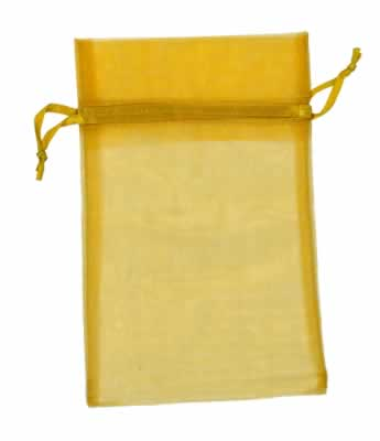 antique gold organza bags for small items