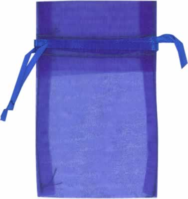 blue organza bags for small items