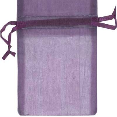 purple organza bags for small items