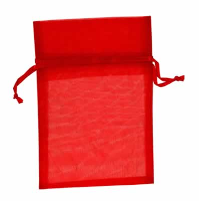 red organza bags for small items