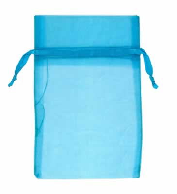Turquoise organza bags for small items