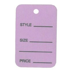Lavender one part tag