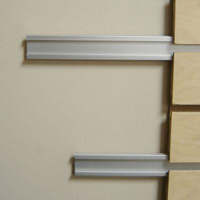 Slatwall reinforcement power bar to strengthen your slatwall slot
